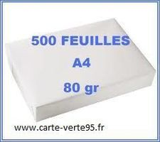 PAPIER A4 : Lot de 5 ramettes de 500 feuilles papier blanc  80g/m2