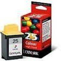LEXMARK N°25 : Cartouche encre couleur grande capacité 625 pages 15MO125E