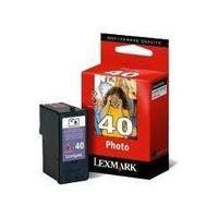 LEXMARK 18Y0340E : cartouche originale encre couleur photo 125 pages Lexmark N°40