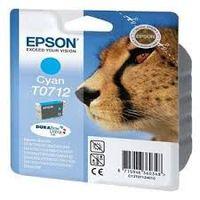 Epson T0712 : cartouche encre cyan 5,5ml