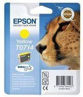 Epson T0714 : cartouche encre jaune 5,5ml