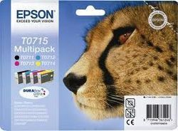 EPSON MULTIPACK T07154010 : 4 cartouches encre noire cyan yellow magenta
