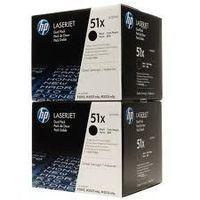 HP Q7551XD : Pack économique 2 toners noirs grande capacité 2x13000 pages