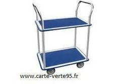 JPC chariot de transport, avec 2 plateaux, dimensions: (L)730 x (l)470 mm