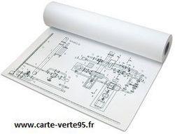 PAPIER TRACEUR 91,4cm x 50 m : rouleau de papier pour table tracante Papyrus (l) 91,4cms x (L) 50m 90g/m2