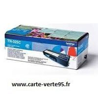 cartouche BROTHER TN-325C : toner original cyan grande capacité 3500 pages TN325C