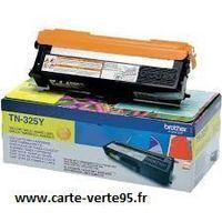 cartouche BROTHER TN-325Y : toner original jaune grande capacité 3500 pages TN325Y