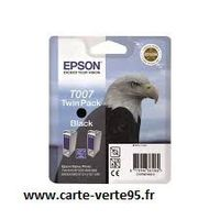Cartouche EPSON T007 Twin pack : twin pack encre noire originale 2x540 pages