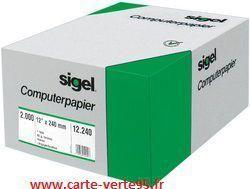"""SIGEL PAPIER LISTING 240 x 30,48 cm (12"""") : Ramette 2000 feuilles"""
