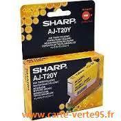 SHARP AJ-T20Y : cartouche encre jaune 350 pages
