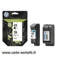 HP SA308AE : Pack de 2 cartouches 45 + 78