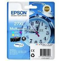 EPSONC13T27154010 : pack économique 3 cartouches encre couleur cyan yellow magenta 3x10,4ml 27XL