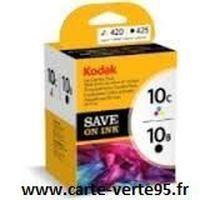 KODAK 3949948 : pack 2 cartouches originales noire et couleur 10B 10C