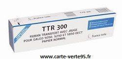 RUBAN TRANSFERT TTR300 : Ruban avec jauge pour GALEO 5050 5250 5850 DECT BTTR300
