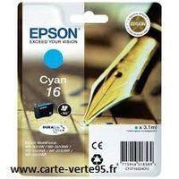 EPSON C13T16224010 : cartouche encre cyan 3,1ml