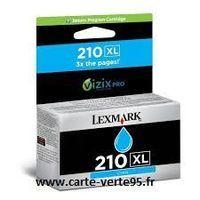 Lexmark 14L0175E : cartouche encre cyan grande capacité 1600 pages N°210XL