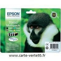 EPSON T0895 : multipack 4 cartouches Epson T0891 + T0892+ T0893 + T0894