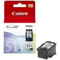 Canon CL-511 : cartouche originale encre couleur 9ml 2972B010 CL511